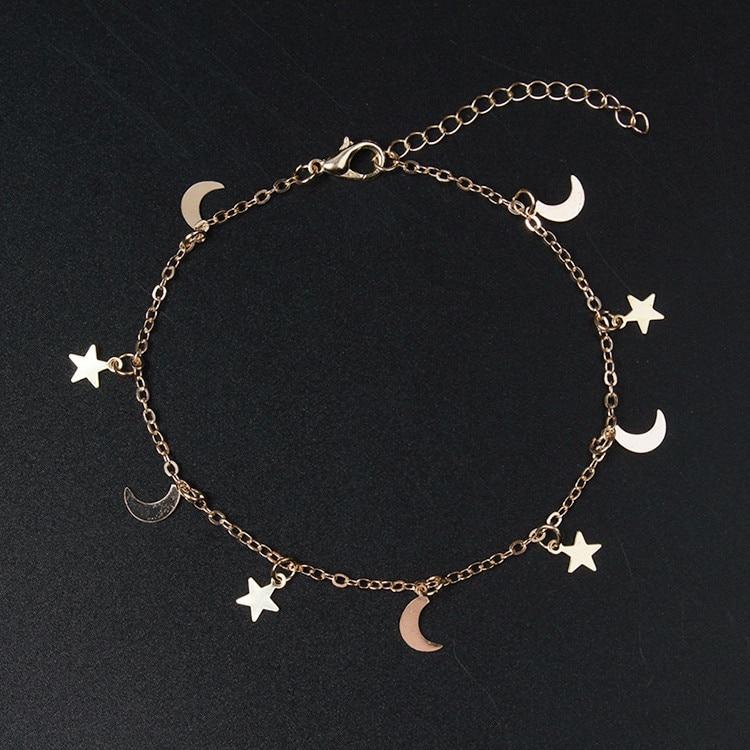 PICKYZ Gold Silver Moon Star Charms Bracelet For Women Fashion Accessories Bracelets & Bangle Charm Bracelet Women Bracelet