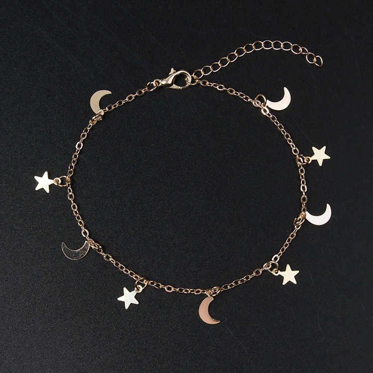 Pickyz ouro prata cor lua estrela charme pulseira para feminino moda acessórios pulseiras & pulseira charme pulseira feminina