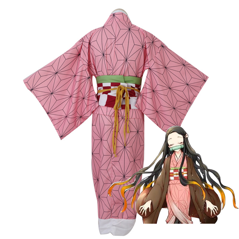 Demon Slayer Kimetsu no Yaiba Kamado Tanjirou Kimono Coat Training Costume Men