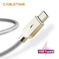 CABLETIME USB C Kabel für Oneplus 5 USB C Ladekabel Power isolierung Ladung Typ C Kabel für Samsung S9 huawei Xiaomi N157