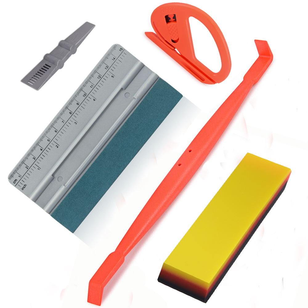 FOSHIO Car Accessories Tools Kit Carbon Film Vinyl Wrap Magnet Tuck Squeegee TPU Window Tint Scraper Cutter Auto Wrapping Tools