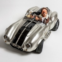 French humorous art master sports car character model to put a birthday gift decoration table top shop treasure crazy rob