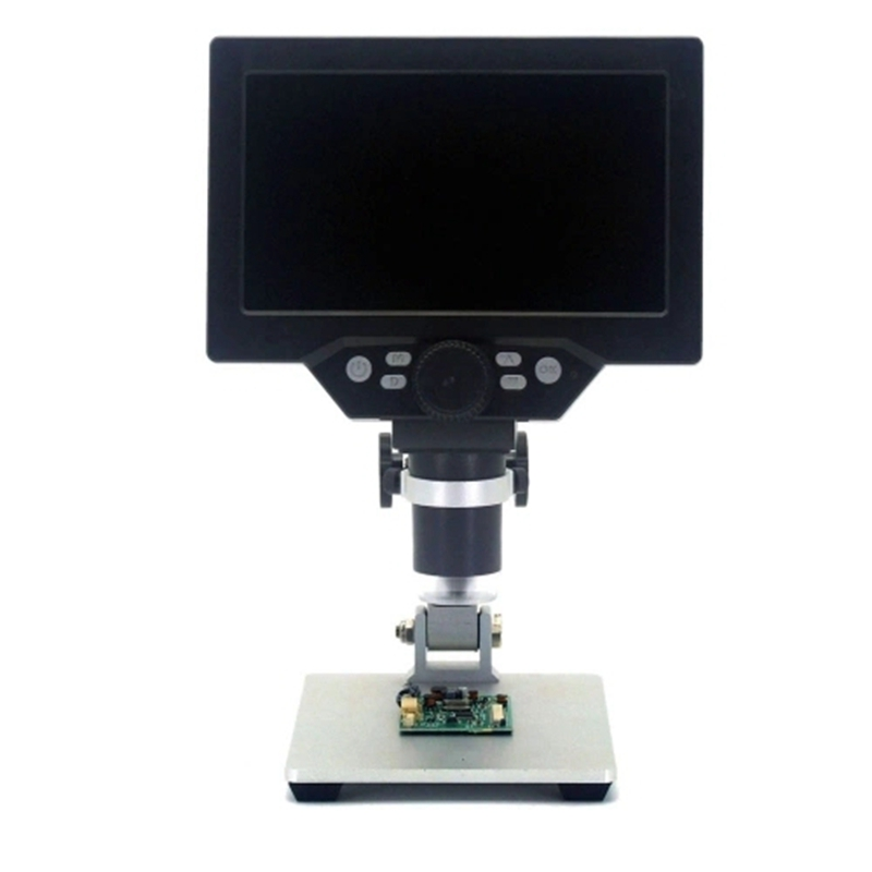 G1200 Digital Microscope 7 Inch Large Color Screen Large Base LCD Display 12MP 1-1200X Continuous Amplification Magnifier with A