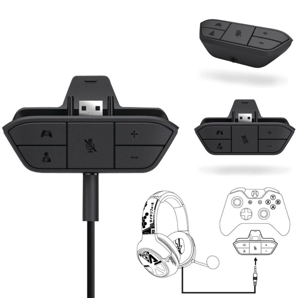 Universal 3 5 mm Audio Jack Stereo Headphone Earphone Mic USB Adapter Converter for Microsoft XBoxOne Wireless Game Controller