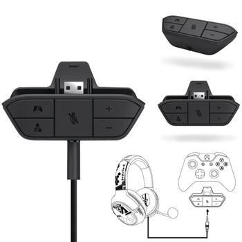 Universal 3.5 mm Audio Jack Stereo Headphone Earphone Mic USB Adapter Converter for Microsoft XBoxOne Wireless Game Controller