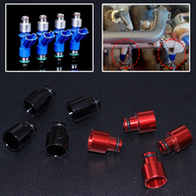 JEAZEA 4x adaptery wtryskiwaczy paliwa wyścigi antykorozyjne uszczelnienie System zasilania przedłużacze dystansowe dla Acura Honda B16 B18 D16Z D16Y tanie tanio CN (pochodzenie) Aluminium alloy Black Red 1 Set x Fuel Injector Top Hat Adapters fit for Honda civic 1988-2000 fit for Honda del sol 1993-1997
