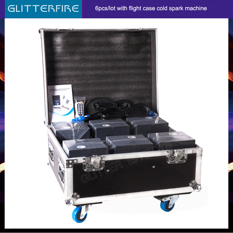 6pcs/Lot With Load Case Latest Version 600W Stage Cold Fountain Fireworks Machine For Dj