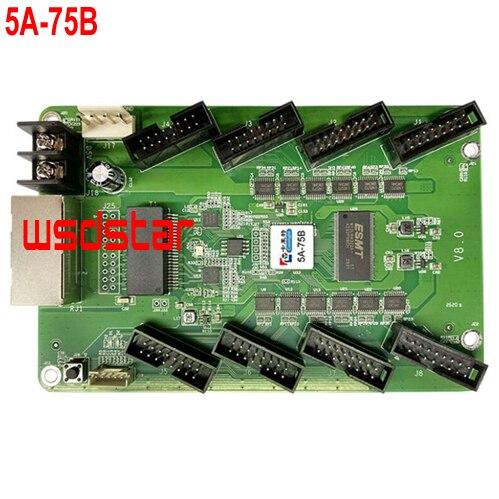 Colorlight 5A 75B LED Fullสีจอแสดงผลแบบซิงโครนัสการ์ดควบคุมหน้าจอLEDไดรฟ์I5A 5A 75 LEDรับการ์ด