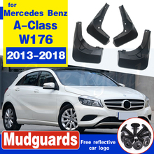 Set Molded Mud Flaps For Mercedes Benz A Class W176 A-Class Mudflaps Splash Guards Mudguards 2013 2014 2015 2016 2017 2018 A260 цена 2017