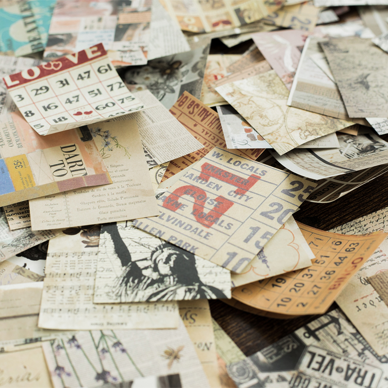 Mr.paper 165pcs/lot Collage Movie Writing Paper Kraft Card Journaling Bullet Scrapbooking Material Paper Retro Words LOMO Cards 3