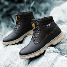 Men Boots Hot 2019 Fashion High Quality PU Leather Winter Waterproof Riding Ankle Outdoor Working Snow Shoes