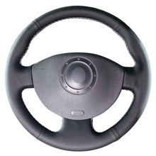 Pokrowiec na kierownicę z czarnej skóry PU dla Renault Megane 2 2002-2009 Kangoo (ZE) 2008- 2013 Scenic 2 2003-2010 Grand Scenic