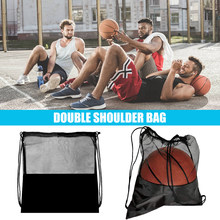 Portable Soccer Ball Storage Net Pouch Organizer Multi-function Black Basketball Mesh Bags Outdoor Sports Training Bags new(China)