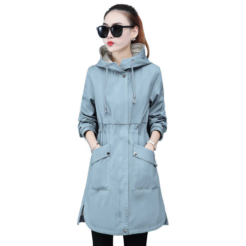 #9151 Spring Autumn Slim Hoodies Jackets Coats For Ladies Long Sleeve Skinny Jacket Woman Hooded Casual Outwear Fashion Korean
