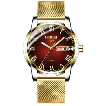 NIBOSI Couple Watch Relogio Feminino Brand Luxury Women Waterproof Quartz Watch Ladies Clock Female Dress Creative Women Wris
