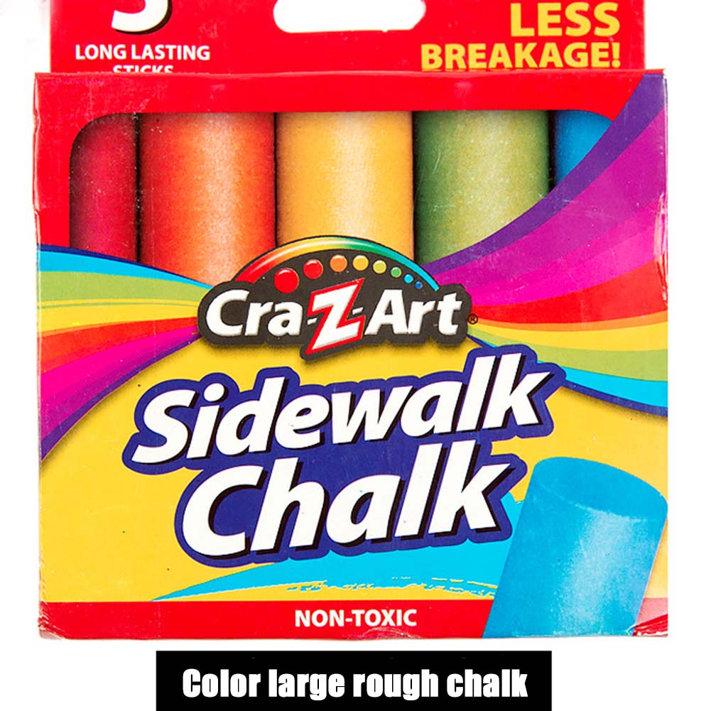 Mixed Colour White Chalk Sticks Pack Kids Playground School Art Learning LHB99