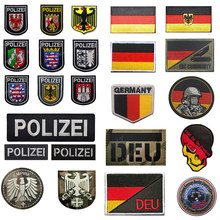 NEW Germany Flag IR Patch Embroidery German Police DEU Eagle Patches Deutschland Military Army Badge PVC Tactical Applique