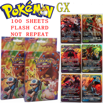 100Pcs Pokemon EX Card Limited Edition English Boxed Flash Cards Set The Strongest Game Kids Holiday Toys