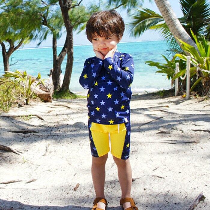 KID'S Swimwear BOY'S Split Type Large Size Big Virgin Boy Boxer Swimming Trunks Teenager Students Sun-resistant Set