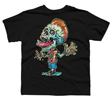 Zombie Ghost Terror Skeleton Screaming Zombie Skull Youth Graphic T Shirt Design By Humans Worsted Men Tees pirate mcsnottbeard in the zombie terror rampage