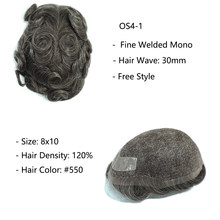 Clearance Sales - Different Base Toupee Human Hair