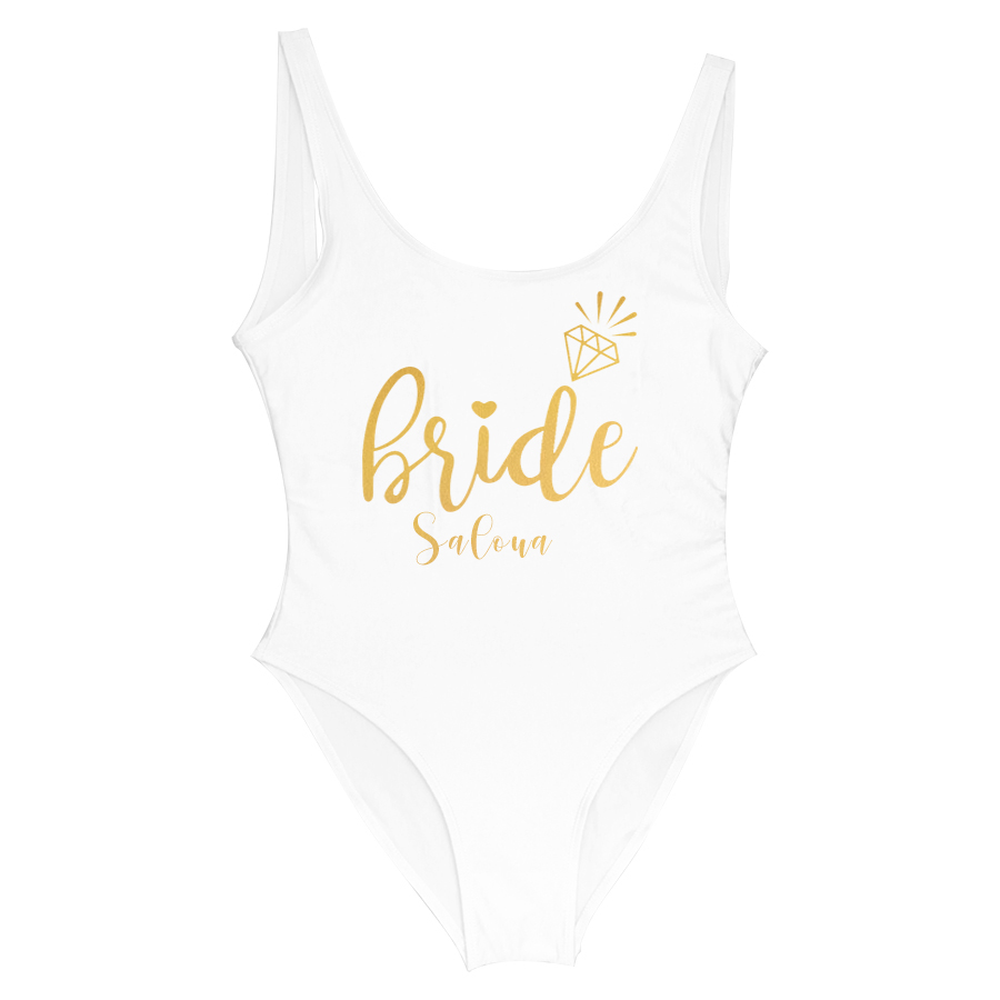 Image 3 - Custom Party Team Name Swimsuits Bachelorette Party One Piece Swimsuit Bride &Squad Lady Wedding Party Lining SwimsuitBody Suits   -