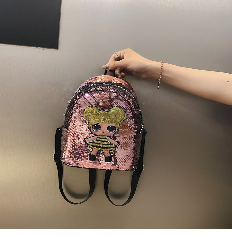 New Style Surprise Baby Backpack Cartoon Cute School Bag GIRL'S Fashion Backpack Sequin CHILDREN'S Bag