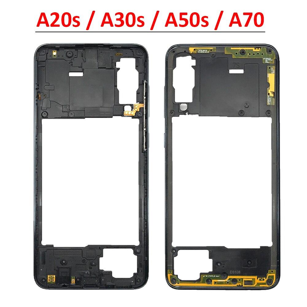 Новый корпус средней рамки для Samsung Galaxy A20S A207F A30S A307F A50S A507F A70 A705F, сменные детали