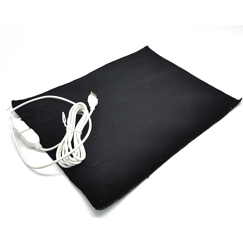 5V USB Electric Heating Pad 230*290cm Carbon Fiber Cloth Heater Pad Heating Element For Pet Belt Warmer 50 Celsius Degree Hot