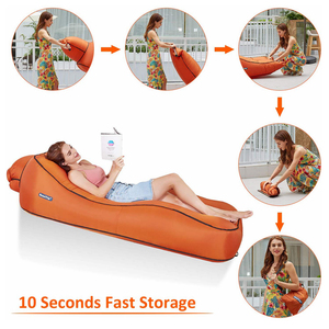 Image 4 - BEAUTRIP Air Lounger Inflatable Lounge Sofa Bed Lazy Sleeping Beds Camping Beach Hangout Couch Waterproof Mattress Water Floats