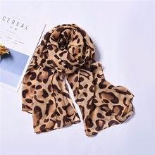 Bufanda de algodón con estampado de leopardo para mujer, chal femenino de alta calidad, suave y cálido, chal delgado de estilo coreano, accesorios YXL