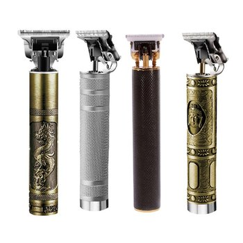 Rechargeable Electric Hair Clipper Km-1971 Abs Hair Salon Special Barber Oil Head Carving Electric Push Shear 1 Set 1