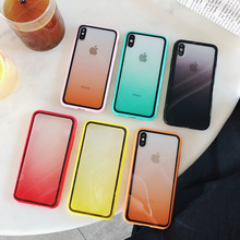 phone case for iphone xr Gradient acrylic 7 6s 6 8 Plus anti-slip sleeve x xs xsmax Luxury