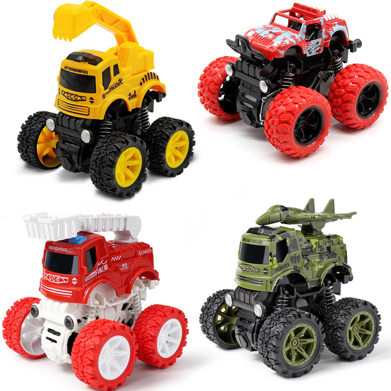 Детские игрушки, монстр-Трак, прочные игрушки, автомобиль для детей, противоударный, переворачивающийся на 360 градусов автомобиль, инерцион...