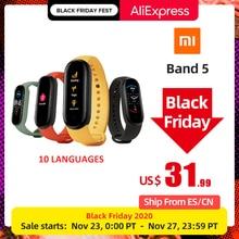 Originale Xiaomi Mi Band 5 versione globale 9 lingue Smart Miband braccialetto schermo frequenza cardiaca Fitness Sport braccialetto Bluetooth