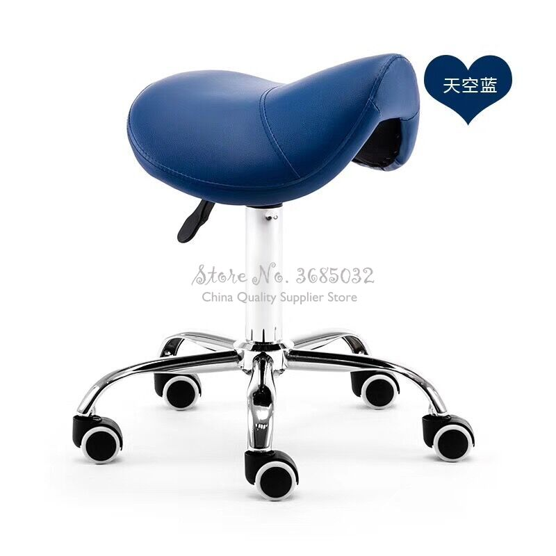 Cheap Massage Pedicure Chair Stool Saddle Leather Upholstery Spa Tattoo Beauty Facial Massage Chair Giraffe Office Chair
