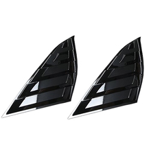 ABS Look Rear Window Shutter Blinds Cover Trim Rear Sunshade for Side Window for Honda Accord 18-19