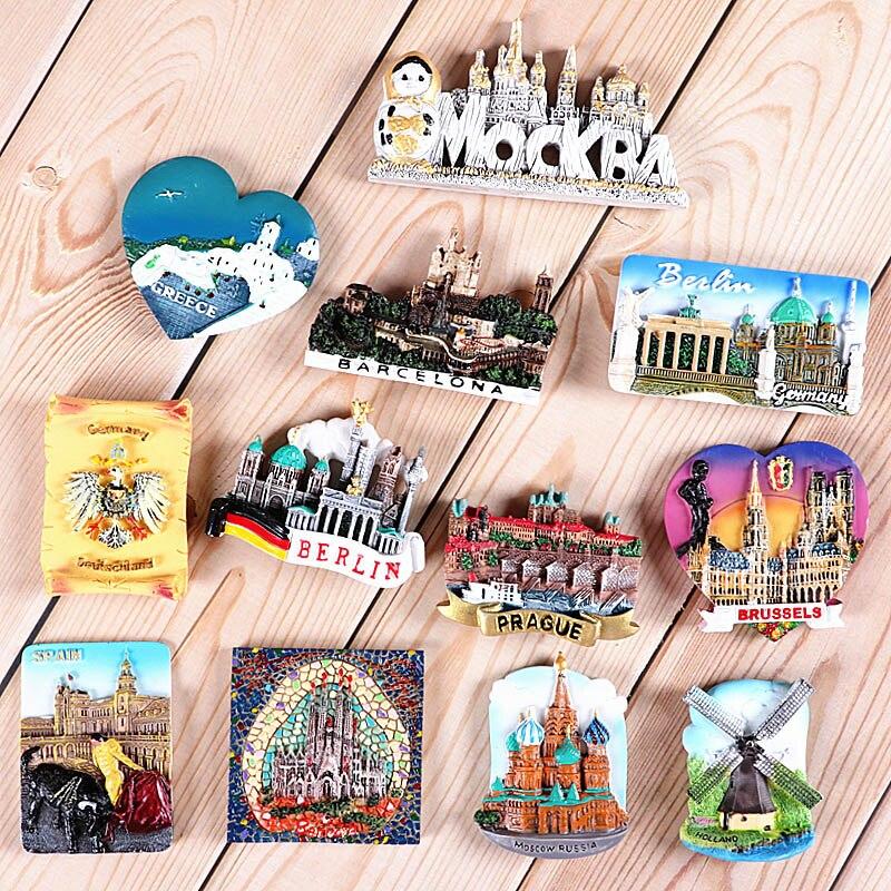 Магниты на холодильник, туристические сувениры, 3D-наклейки на холодильник, Германия, Россия, Греция, Испания, Нидерланды, Чешская Бельгия, ко...