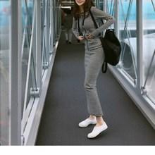 Korean Style Fall Women Striped Long Sleeve Casual Sets Zipper Hoodies Top Skirts Sets Elastic Waist Slim 2 Piece Set цена