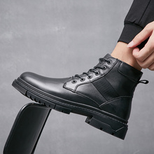 Warm Casual Shoes Male Ankle Boots Winter Men Boots Work Safety Shoes %2801 Men Shoes New Genuine Leather Snow Boots for Man northmarch men winter boots casual genuine leather business man shoes flat heel ankle boots for male comfortable orange boots
