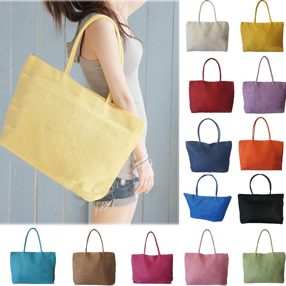 Fashion Women Handbag Summer Beach Bag Woven Handmade Knitted Straw Large Capacity Totes Women Shoulder Bag Bohemia New