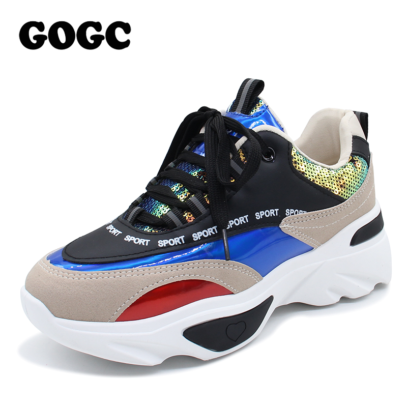 GOGC Shoes Woman Sneakers Women Platform Shoes Womens Flat Casual Shoes Platform Sneakers Chunky Sneakers Summer Flats G68111