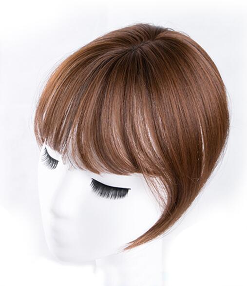 Черный/светильник, коричневые накладные волосы на заколках для женщин, синтетические высокотемпературные волокна для наращивания волос - Цвет: light brown