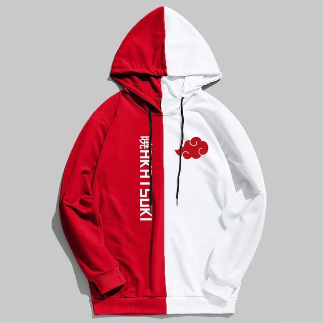 New Sale Double Color Hoodie Naruto Akatsuki Printing Pullover Sweatshirt XXL Large Size Anime Hoodies