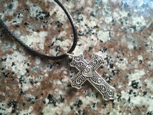 New Blessing amulet love heart Cross Necklace Cute Cool Christian Simple Faith Religious leather jewelry
