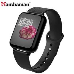 B57 akıllı saat erkekler kadınlar smartwatch spor bilezik izci nabız monitörü çoklu spor modu erkekler kadınlar akıllı bant izle