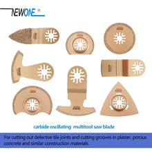 Newone Carbide Segment Oscillating Multi tool Saw Blades Accessories for Power Tool as Fein Multimaster,Dremel, Cutting Grooves
