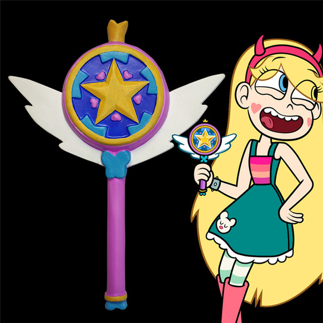 スター対邪悪なコスプレ悪プリンセス魔法のスティック杖コスプレ姫スター蝶のアクセサリーの小道具