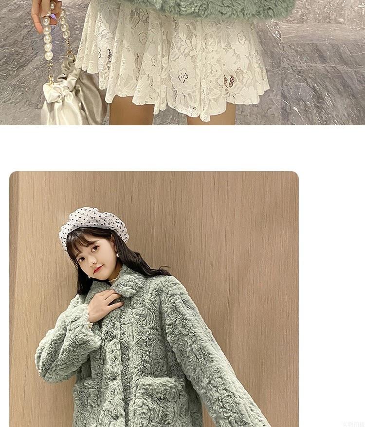 Ha561a937ef384f649d02c432ffc6abfaN Plush jacket women winter short 2021 new Korean version of loose lamb wool faux fur leopard print fur coat women winter