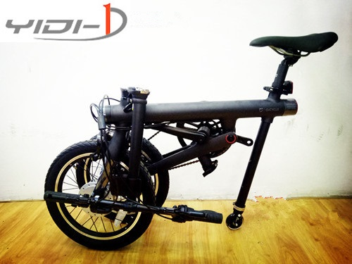 Qicycle EF1 electric folding bicycle accessories folding <font><b>car</b></font> auxiliary wheel <font><b>pulley</b></font> <font><b>pulley</b></font> booster wheel image